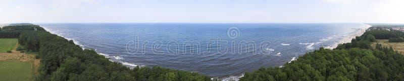 Panorama coastline royalty free stock image