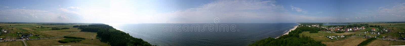 Panorama coastline royalty free stock photos