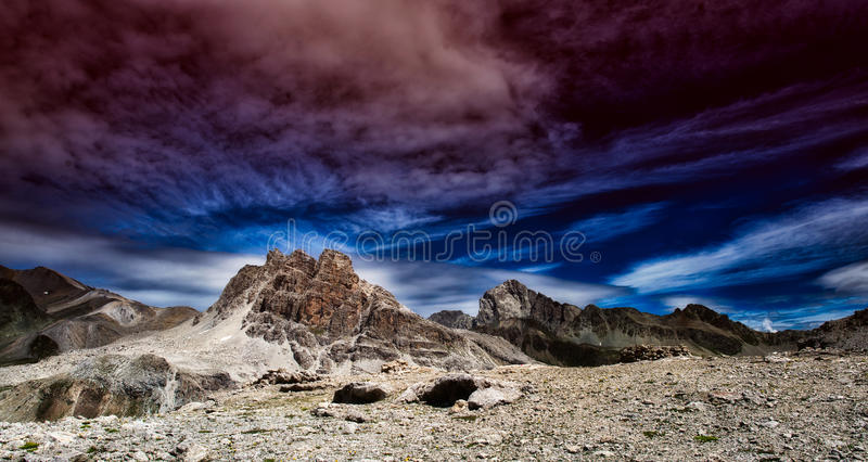 Panorama of colorful landscapes royalty free stock image