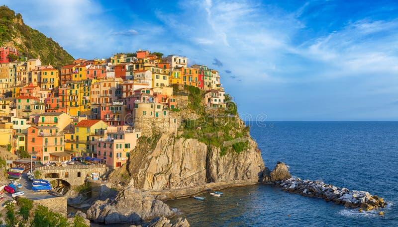 Panorama colorido do terre de Cinque. fotografia de stock