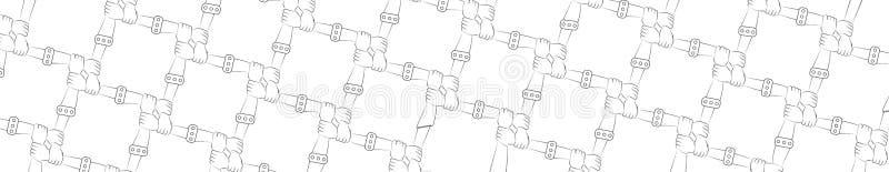 Panorama comando Amicizia protezione unità Concetto Mani illustrazione di stock