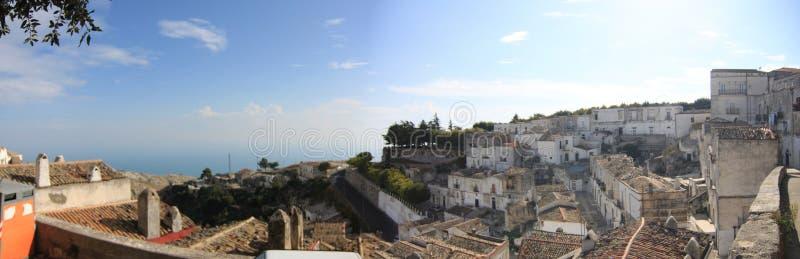 Panorama comum de Monte Sant 'Angelo Foggia Italy fotos de stock