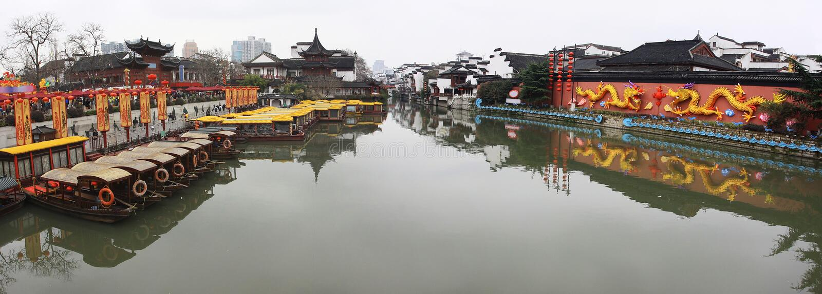 Panorama of Confucian Temple. Panorama picture of Confucian Temple stock photography