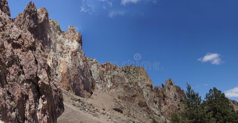 Panorama Craggy rhyolitekant royaltyfria bilder