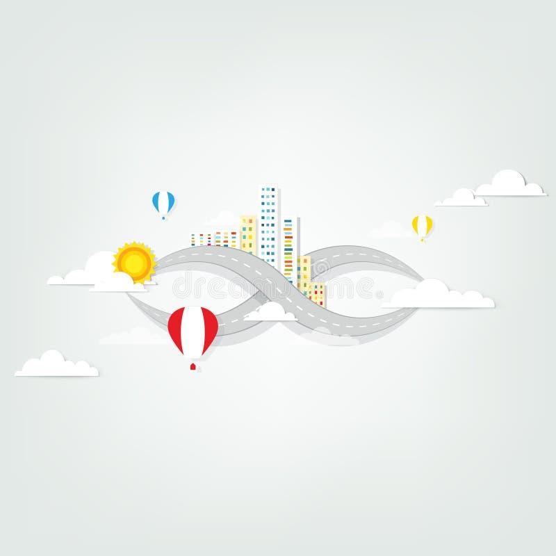 Panorama creativo de la ciudad libre illustration