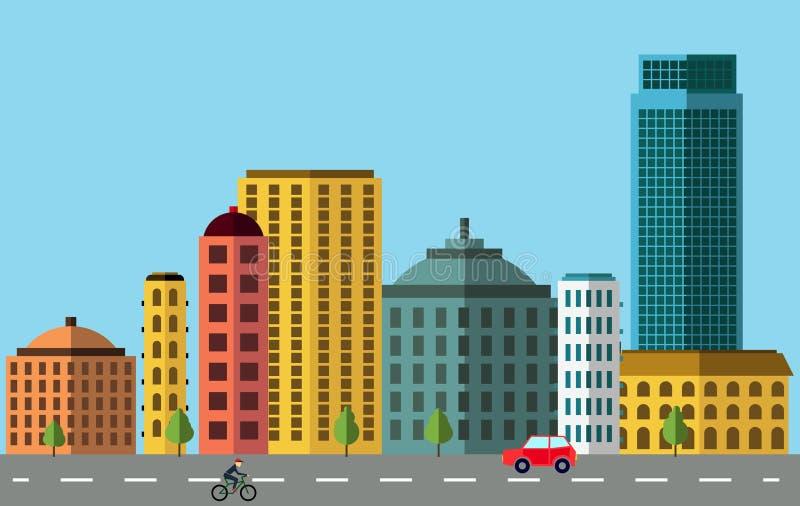 panorama Croatia capitol city Zagrzeb ilustracji