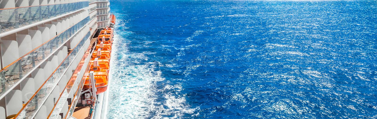 Cruise Ship On Blue Ocean Stock Image Image Of Caribbean