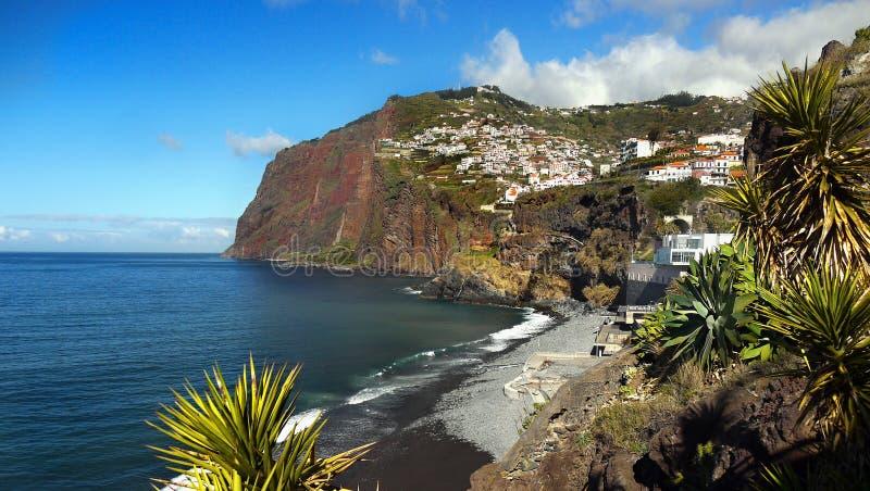 Panorama d'île de la Madère, Cabo Girao photos libres de droits