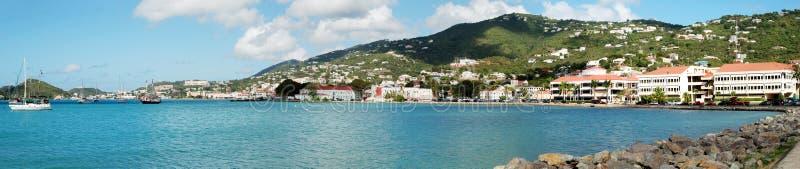 Panorama d'île de St.Thomas images stock