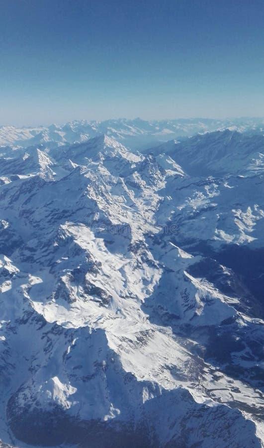 Panorama d'Alpes image libre de droits