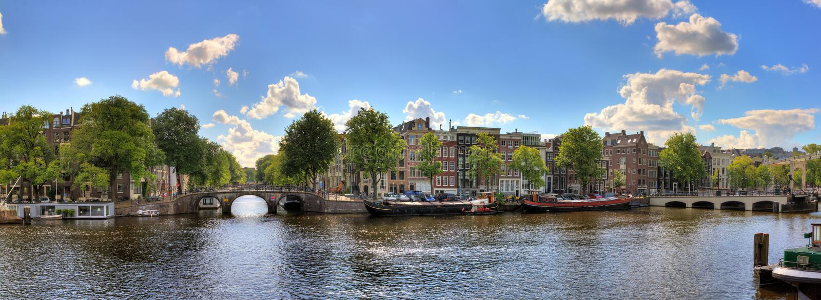 Panorama d'Amstel image stock