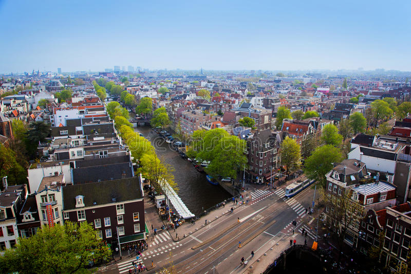 Panorama d'Amsterdam images stock