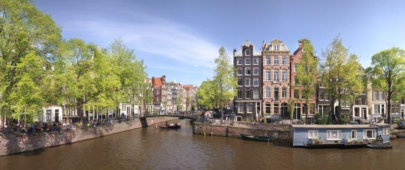 Panorama d'Amsterdam image stock