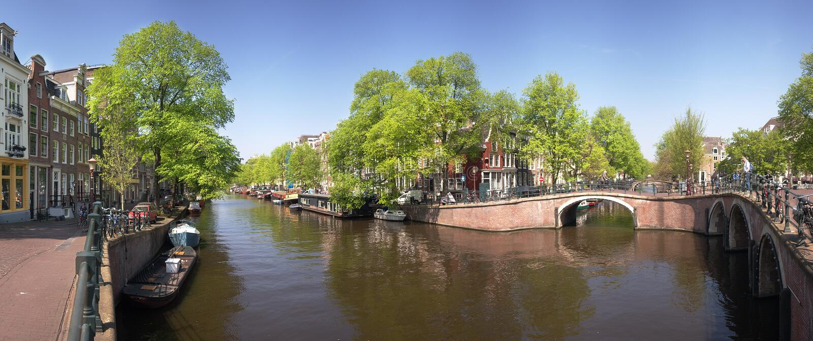 Panorama d'Amsterdam photo libre de droits