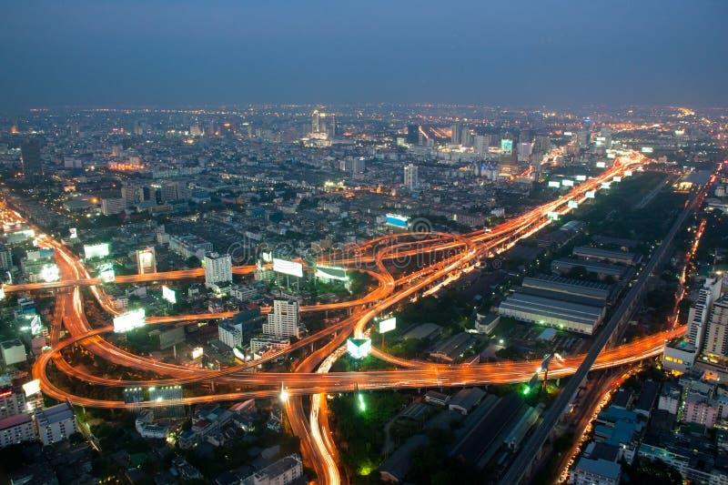 Panorama d'autoroute urbaine de Bangkok photos stock