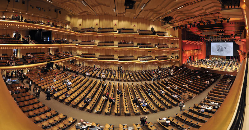 Panorama d'Avery Fisher Hall image libre de droits