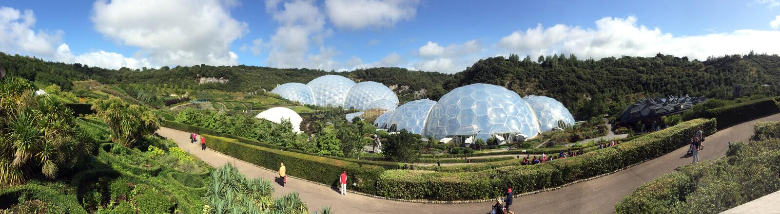 Panorama d'Eden Project photographie stock