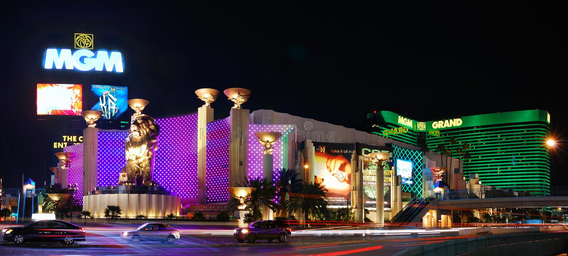Panorama d'hôtel de MGM, Las Vegas images libres de droits