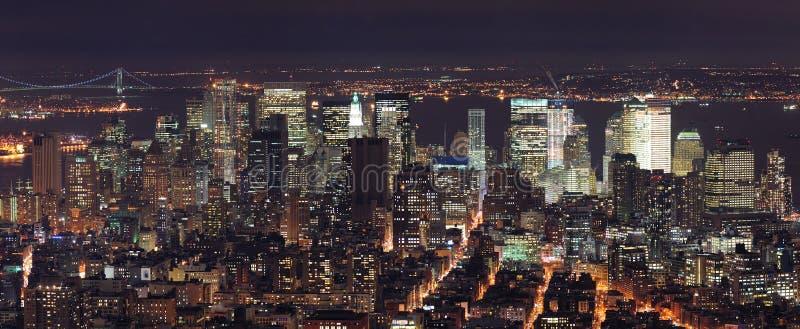 Panorama d'horizon de New York City Manhattan images libres de droits