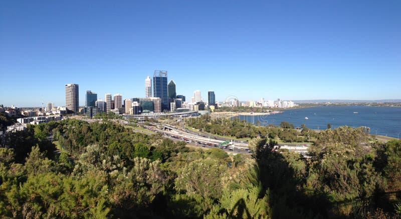 Panorama d'horizon de Perth images stock