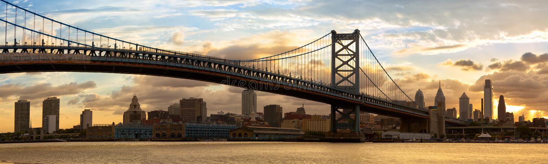 Panorama d'horizon de Philadelphie photos libres de droits