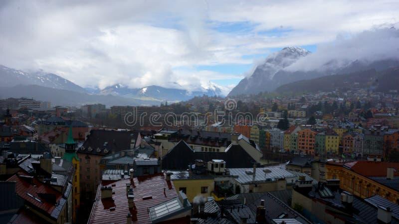 Panorama d'Innsbruck images libres de droits