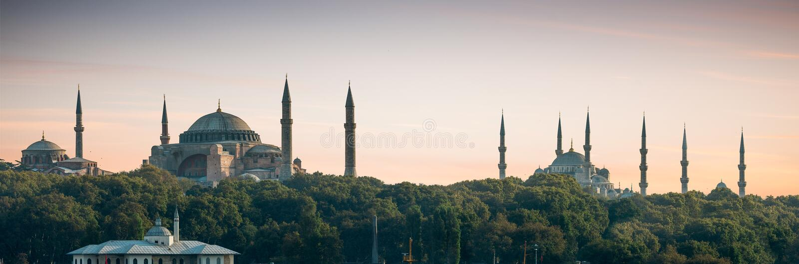 Panorama d'Istanbul images stock