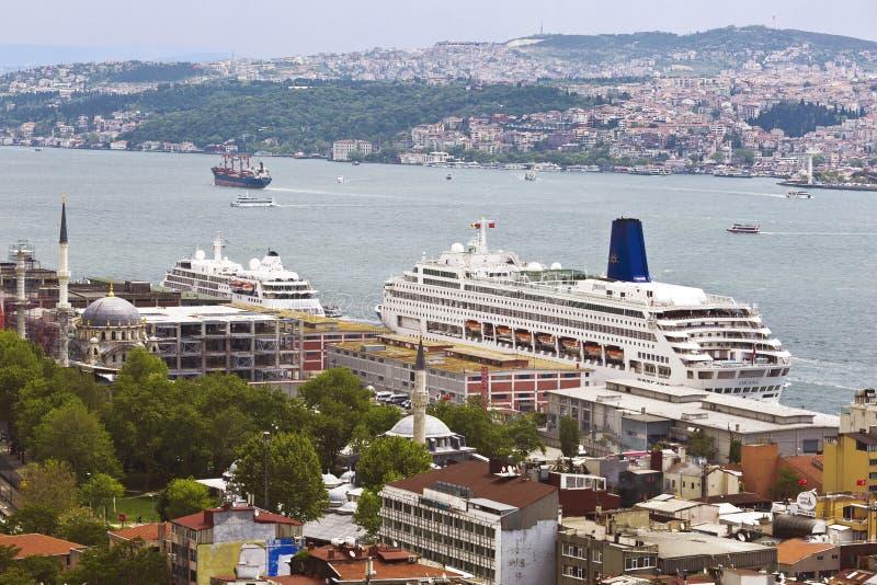 Panorama d'Istanbul, vue d'en haut photos libres de droits
