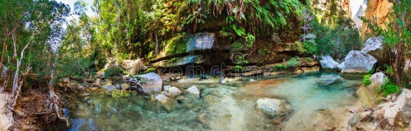 Panorama d'oasis d'Isalo photographie stock libre de droits