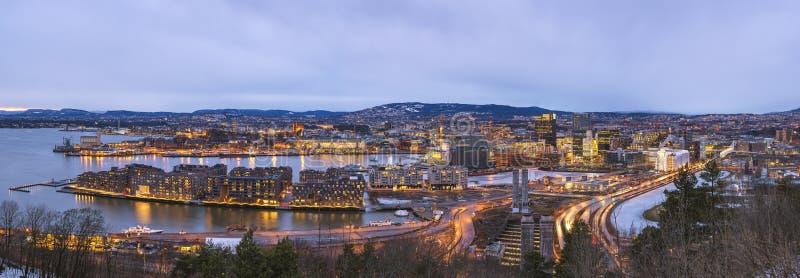 Panorama d'Oslo Norvège photos libres de droits