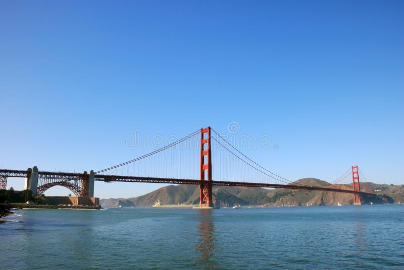 panorama d'or san de porte de Francisco de passerelle image libre de droits