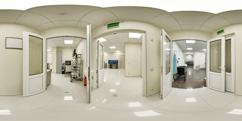 panorama 360 d'un établissement médical photo stock