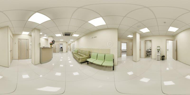 panorama 360 d'un établissement médical photographie stock