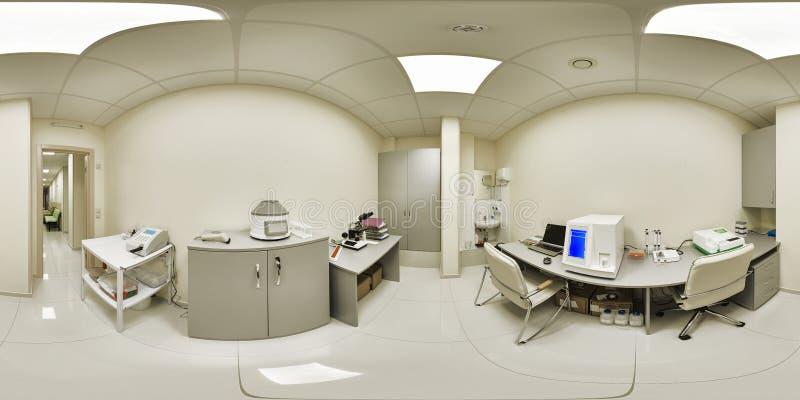 panorama 360 d'un établissement médical photos stock