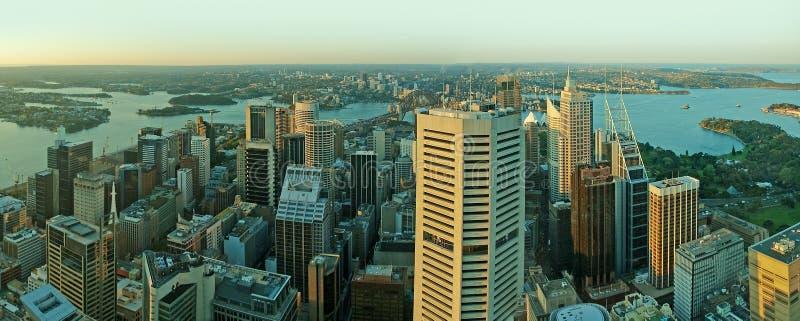 Panorama da arquitectura da cidade de Sydney imagens de stock