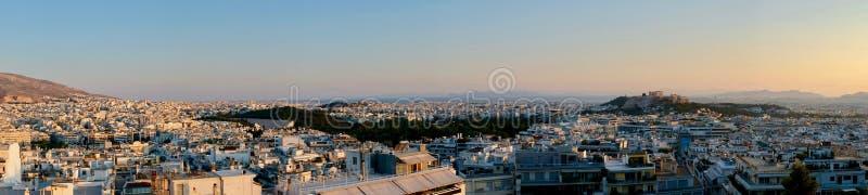 Panorama da arquitetura da cidade de Atenas, Grécia foto de stock