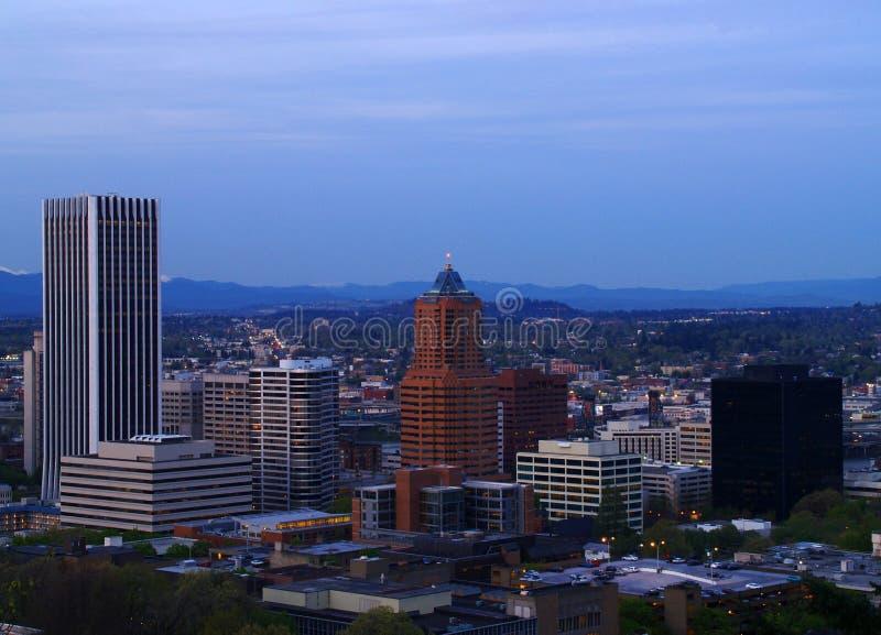 Panorama da baixa 1 de Portland foto de stock