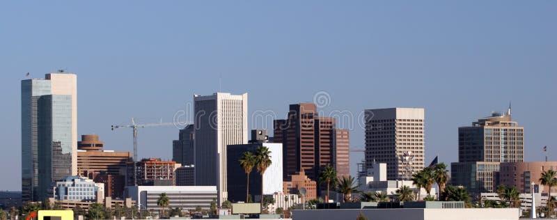 Panorama da baixa de Phoenix, AZ imagens de stock royalty free