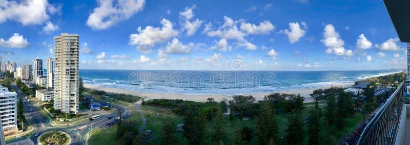 Panorama da Broadbeach nel Queensland fotografie stock libere da diritti