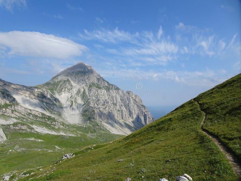 Panorama DA Campo Imperatore Abruzzo, Italië stock foto