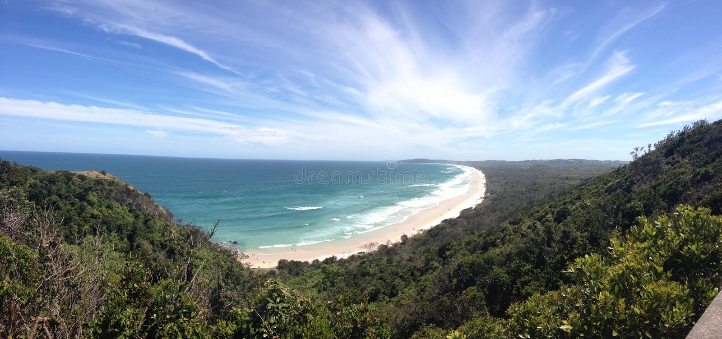 Panorama da capo Byron fotografia stock