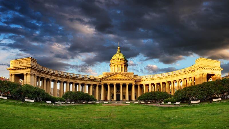 Panorama da catedral de nossa senhora de Kazan, russo Chu ortodoxo foto de stock