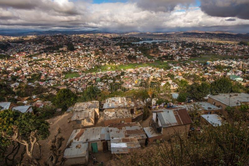 Panorama da cidade de Antananarivo, capital de Madagáscar fotos de stock