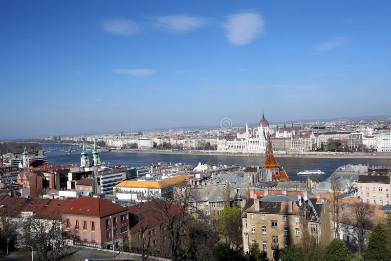 Panorama da cidade de Budapest foto de stock