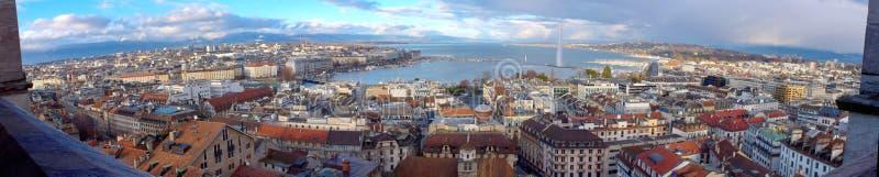 Panorama da cidade de Genebra, Suíça (HDR) fotos de stock royalty free