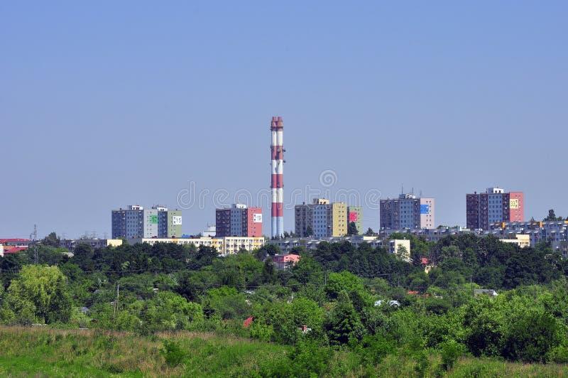 Panorama da cidade de Lublin em Poland imagens de stock royalty free