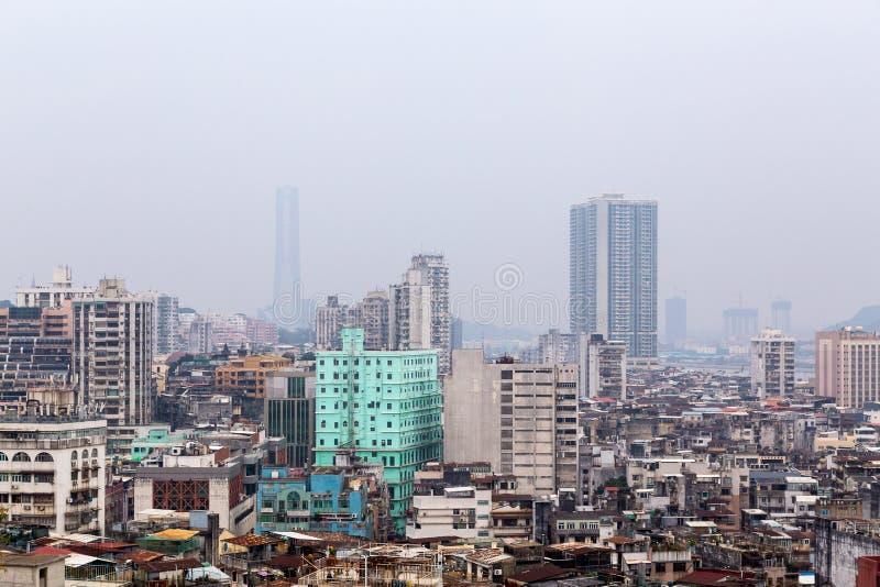 Panorama da cidade de Macau no dia imagem de stock