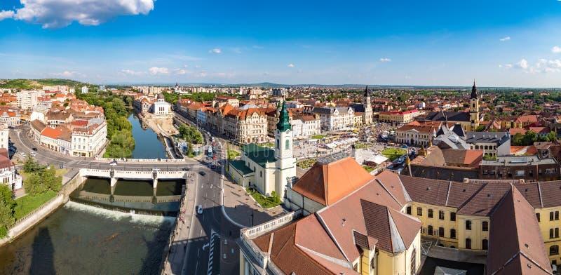 Panorama da cidade de Oradea fotografia de stock