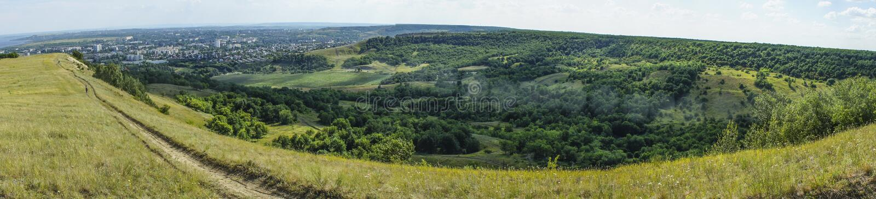 Panorama da cidade de Saratov foto de stock