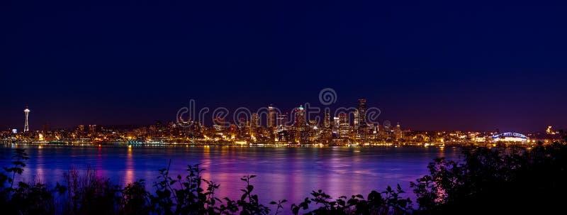 Panorama da cidade de Seattle imagens de stock royalty free